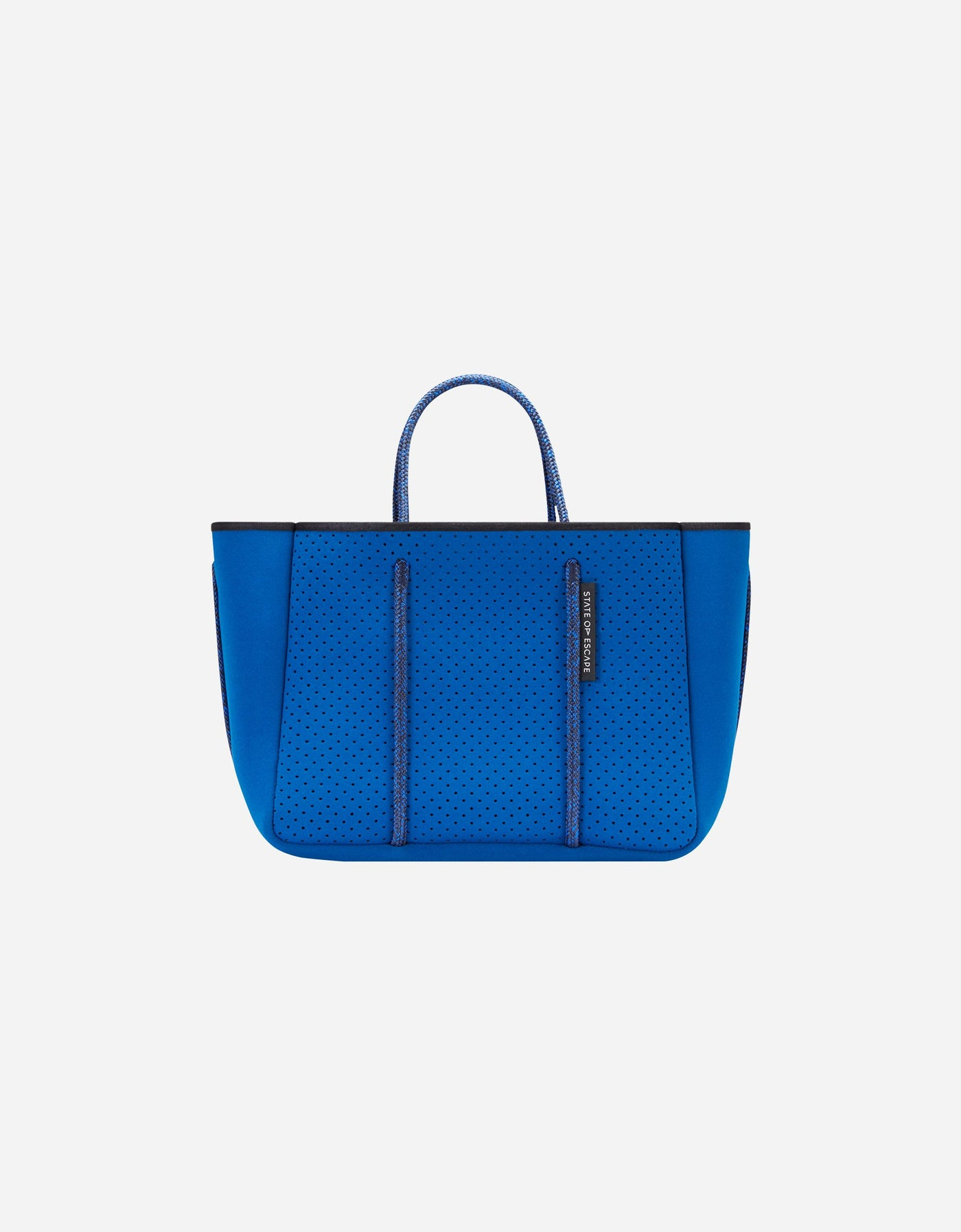 Petite escape neoprene tote bag in marine