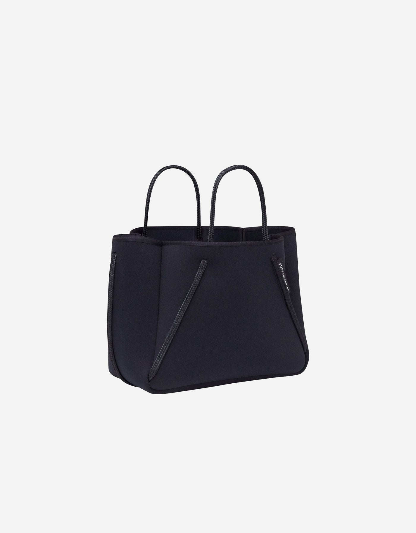 Petite guise neoprene tote bag in black out