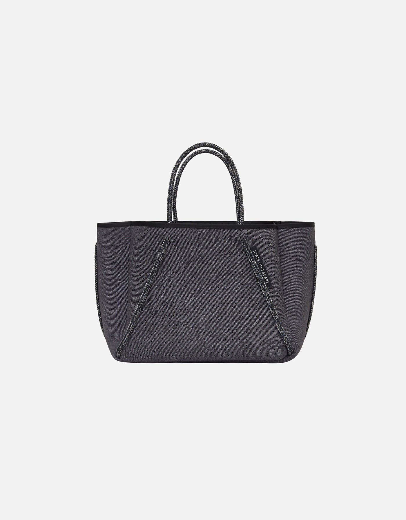 Petite Guise tote bag in washed ink denim print