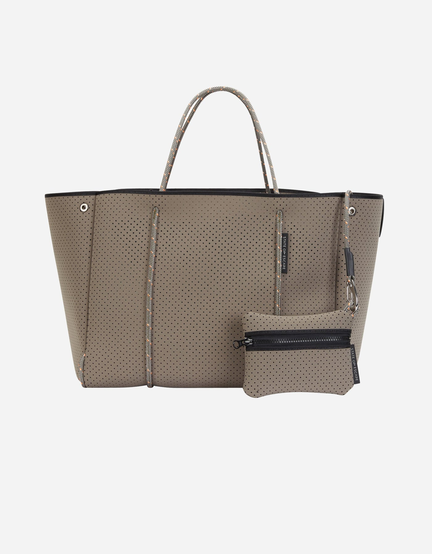 State of Escape x Olympia escape tote in safari