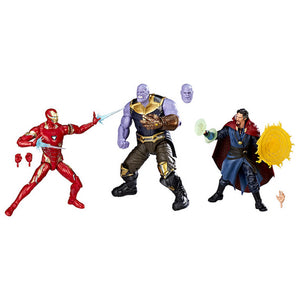 Marvel Studios The First Ten Years Thanos, Iron Man & Doctor Strange 3 Pack by Hasbro