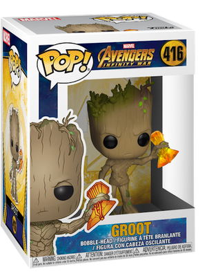 Avengers Infinity War Groot with Stormbreaker Vinyl Bobble-Head by Funko