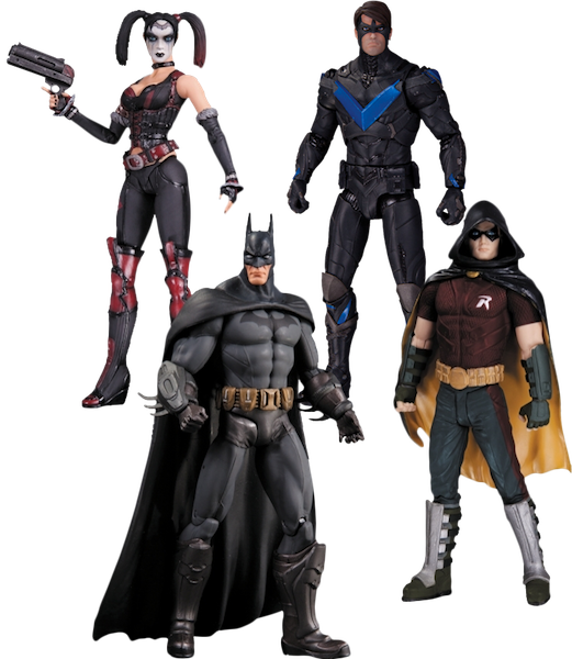 Batman Arkham City 4 Pack Figure Set by DC Collectibles -DC Collectibles - India - www.superherotoystore.com