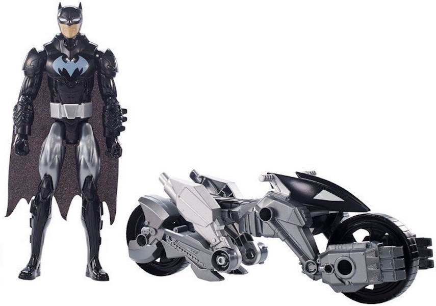 Justice League Batman and Transforming Batcycle by Mattel