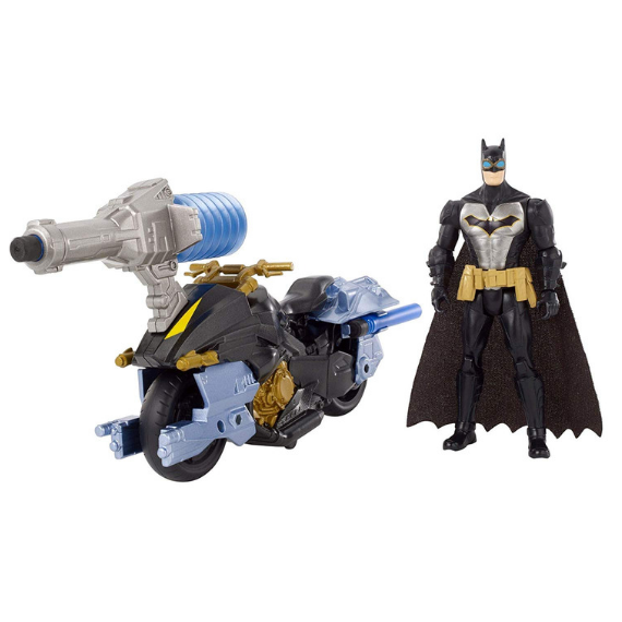 Batman & Batcycle Figure by Mattel