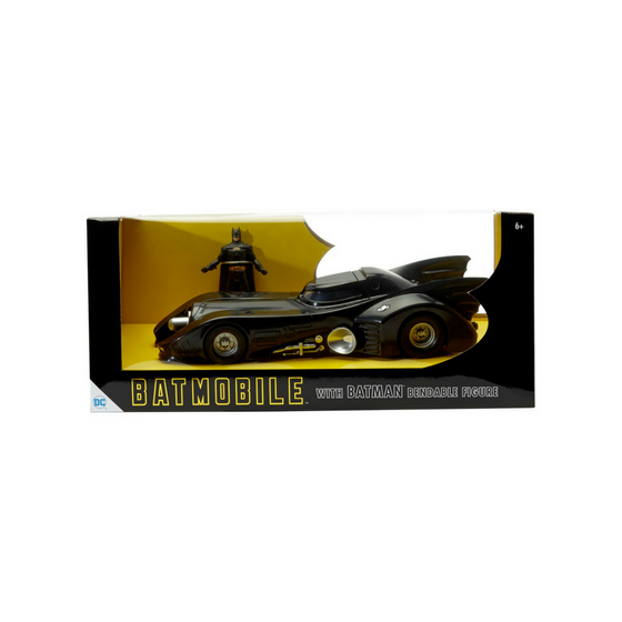 1989 Batmobile with Batman Bendable Figure by NJ Croce