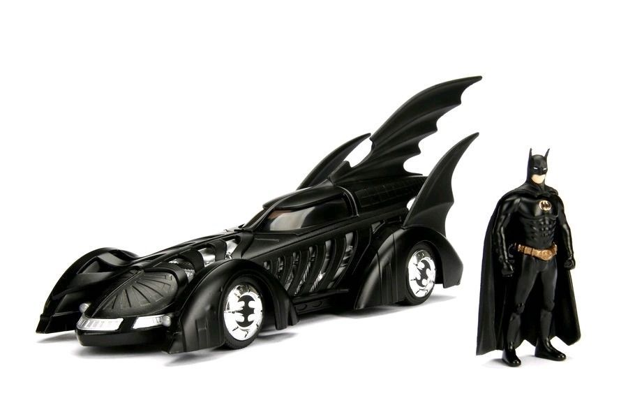 Batman Forever: 1:24 Scale Metal Die-cast Batmobile and Batman by Jada Toys -Jada Toys - India - www.superherotoystore.com