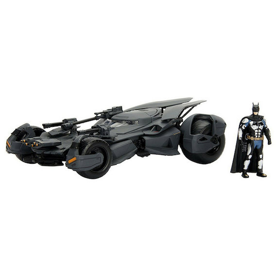 Justice League 1:24 Scale Metal Die-cast Batmobile with Batman By Jada Toys -Jada Toys - India - www.superherotoystore.com