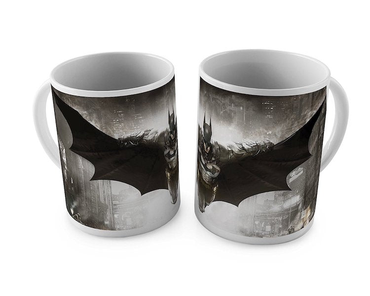 Batman Arkham Knight 3D Printed White Mug by Happy Giftmart -Happy Giftmart - India - www.superherotoystore.com