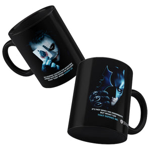 Batman The Dark Knight: Batman & Joker Black Mug by Happy Giftmart