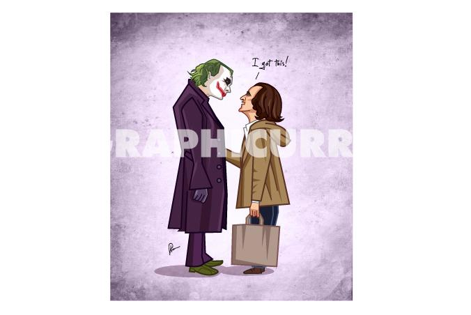 Joker Meets Joker Wall Art by Graphicurry -Graphicurry - India - www.superherotoystore.com