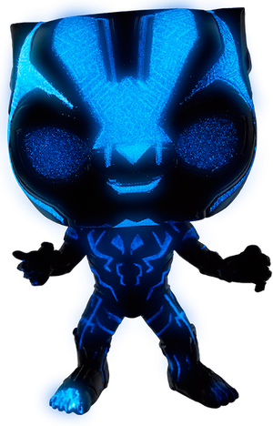 Black Panther Movie: Black Panther Glow in the Dark Vinyl Bobble-Head by Funko