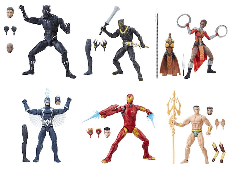 Black Panther Marvel Legends Movie Wave Set of 6 by Hasbro