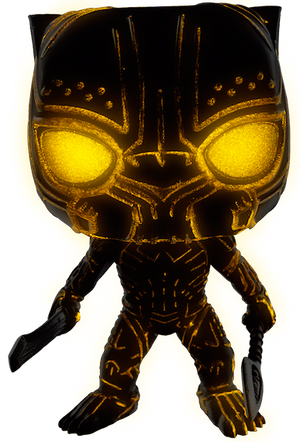 Black Panther Movie: Erik Killmonger Glow in the Dark Vinyl Bobble-Head by Funko