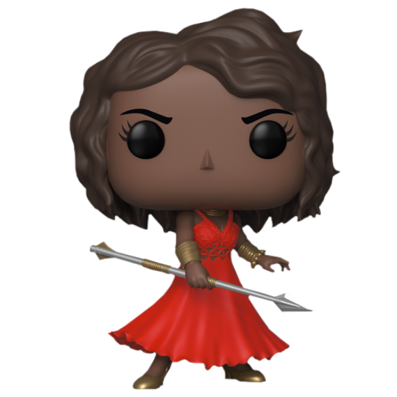 NYCC Exclusive Black Panther Okoye in Red Dress Vinyl Bobble-Head by Funko