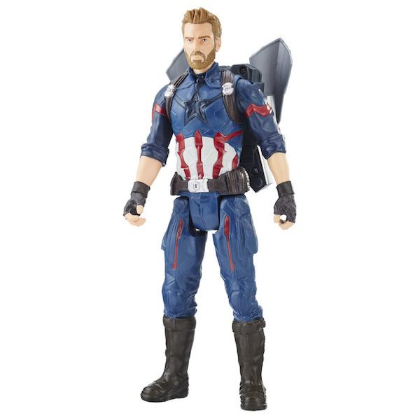 Avengers Infinity War: Titan Hero Series Captain America Figure with Power FX Pack by Hasbro