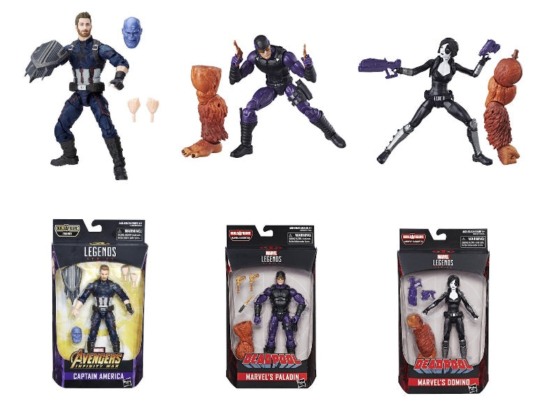Marvel Legends: Infinity War Captain America, Paladin, Domino (3 Pack) by Hasbro