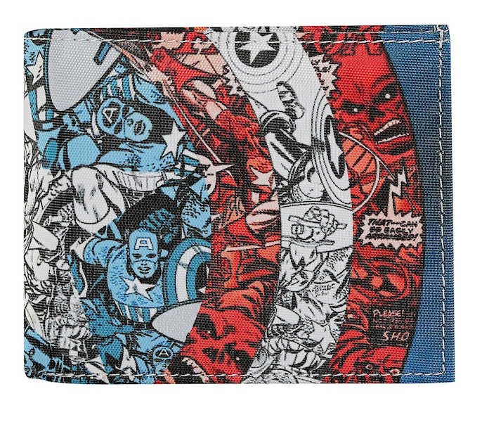 Captain America Blue Bi-Fold Wallet