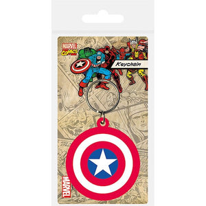 Captain America Shield Rubber Keychain by Pyramid International