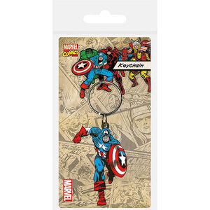 Captain America Rubber Keychain by Pyramid International