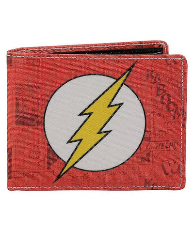 Flash Logo Bi-Fold Wallet by Bombay Merch -Bombaymerch - India - www.superherotoystore.com