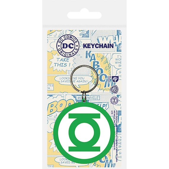 Green Lantern Logo Rubber Keychain by Pyramid -Pyramid International - India - www.superherotoystore.com