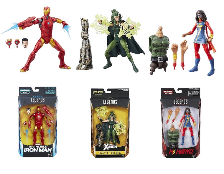 Marvel Legends: Invincible Iron-Man, Polaris, Ms Marvel (3 Pack) by Hasbro