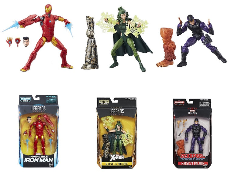 Marvel Legends: Invincible Iron-Man, Polaris, Paladin (3 Pack) by Hasbro