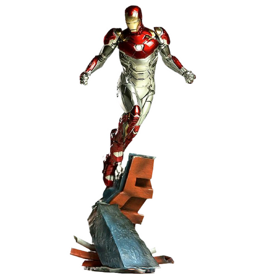 Spider-Man Homecoming Battle Diorama Series Iron Man Mark XLVII Art Scale 1:10 Statue By Iron Studios