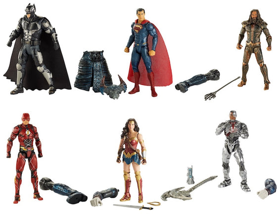 Justice League: Multiverse Action FIgure 6 Pack by Mattel