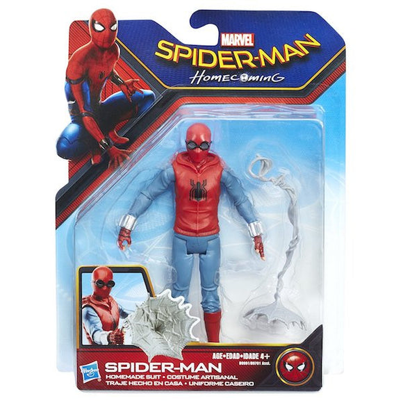 Spider-Man Homecoming: Web-City: Homemade Suit Spider-Man Action Figure by Hasbro