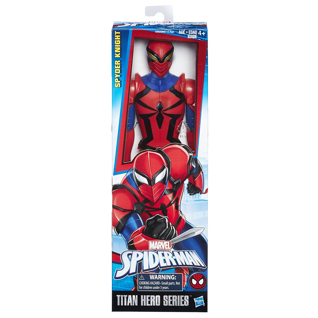 marvel spider man titan hero series spyder knight figure by hasbro