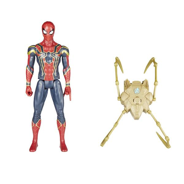 infinity war titan hero series iron spider figure with power fx pack by hasbro shop now