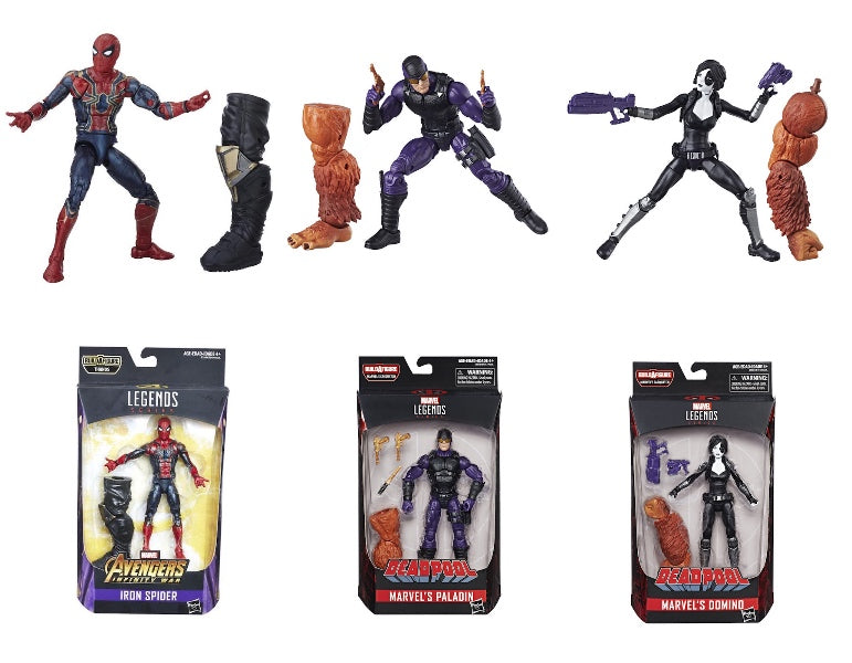 Marvel Legends: Infinity War Iron Spider, Paladin, Domino (3 Pack) by Hasbro