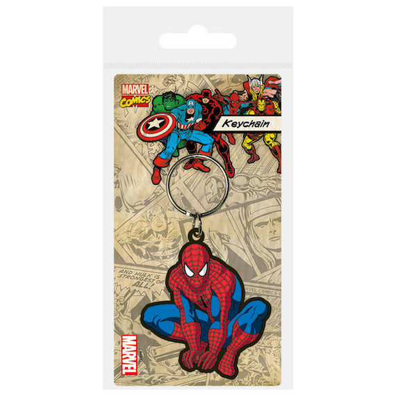 Crouching Spider-Man Rubber Keychain by Pyramid -Pyramid International - India - www.superherotoystore.com