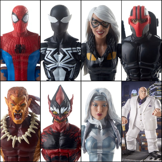 Marvel Legends Amazing Spiderman Figures Kingpin Wave Set of 7 Pack by Hasbro