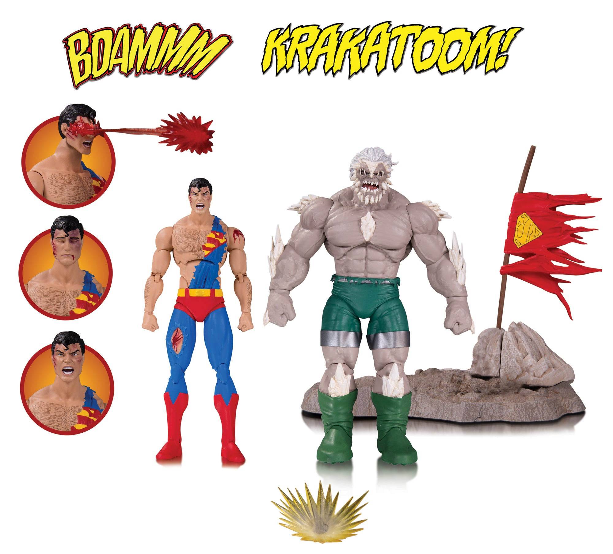 DC Icons Death of Superman Doomsday & Superman 2 Pack by DC Collectibles