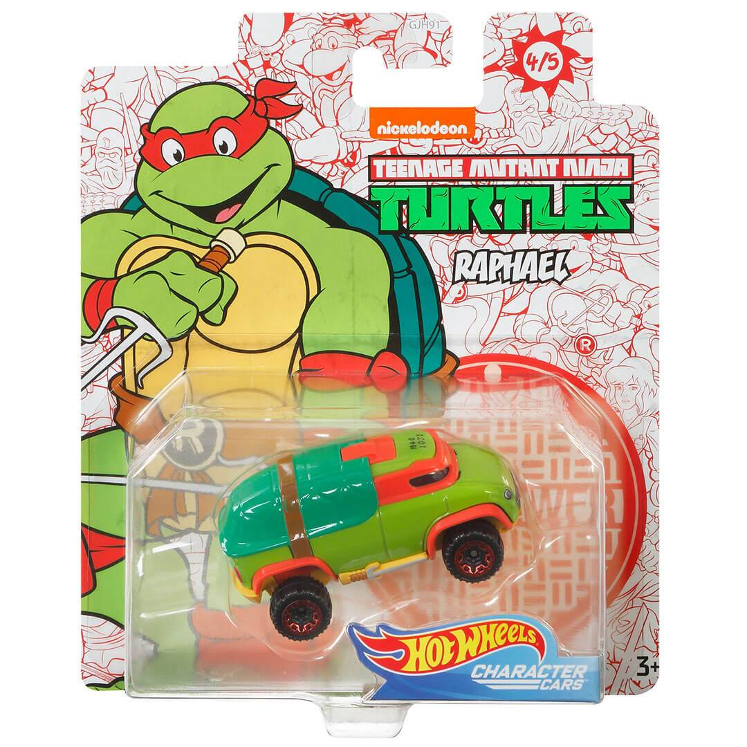 Teenage Mutant Ninja Turtles Raphael 1:64 Scale Die-Cast Car by Hot Wheels -Hot Wheels - India - www.superherotoystore.com