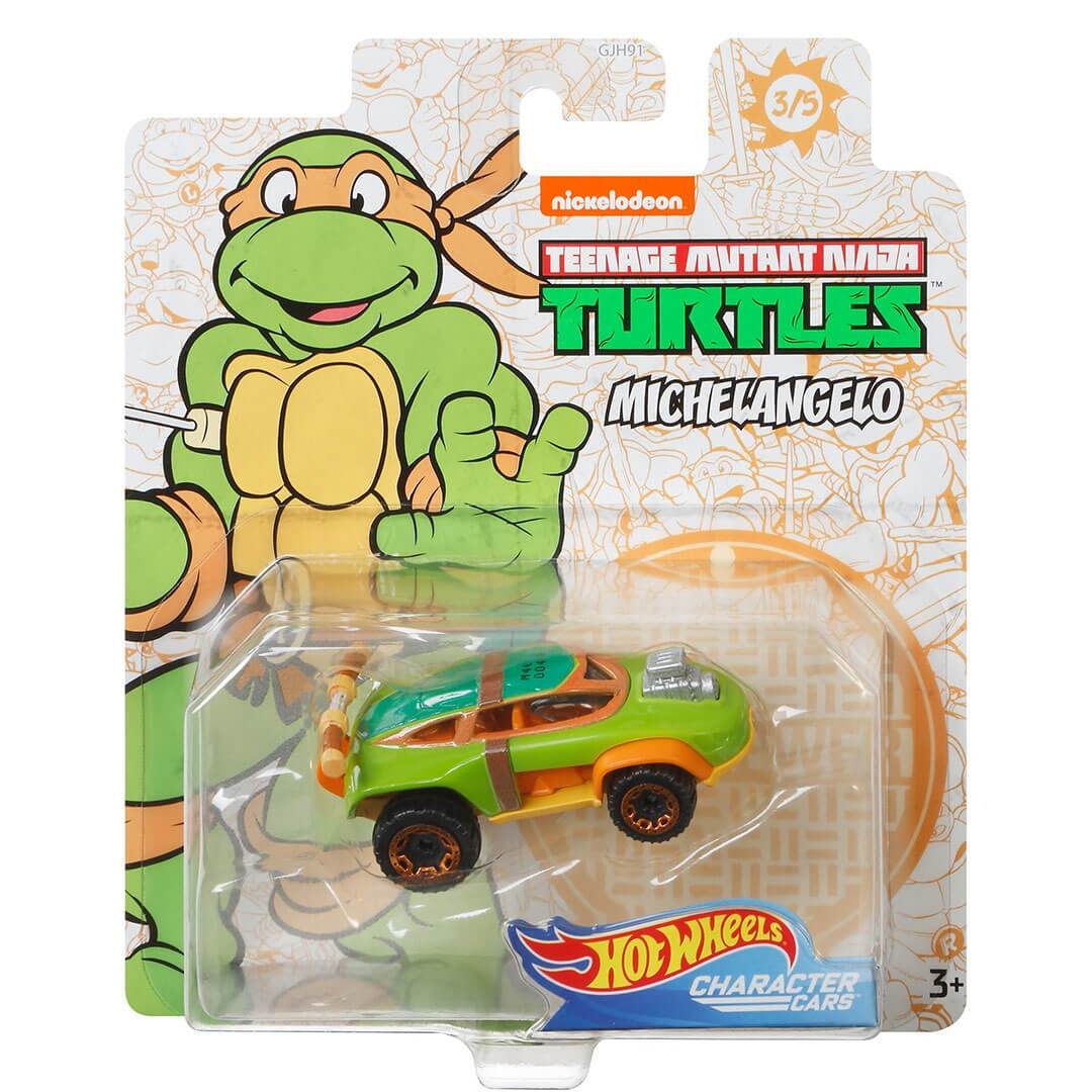 Teenage Mutant Ninja Turtles Michelangelo 1:64 Scale Die-Cast Car by Hot Wheels -Hot Wheels - India - www.superherotoystore.com