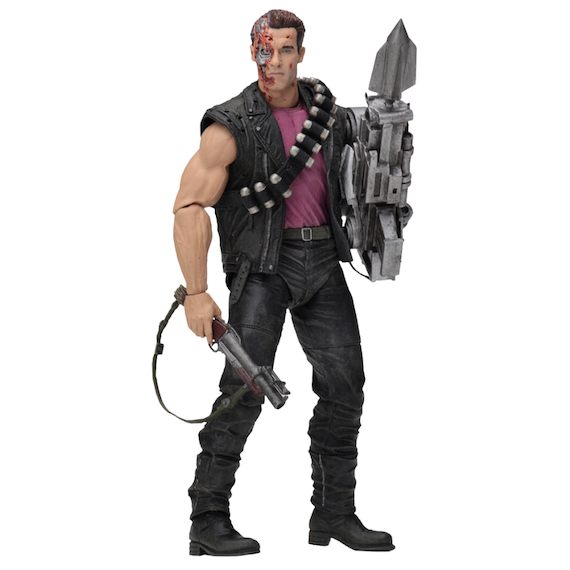 Terminator 2 Judgement Day Power Arm T-800 Kenner Tribute Figure by NECA