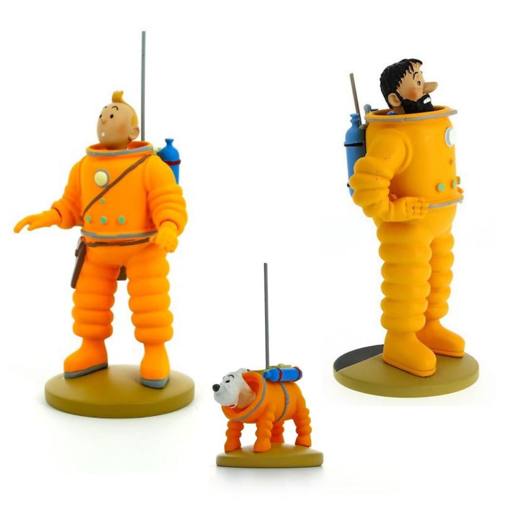 Adventures of Tintin In Lunar Suit 5-Inch Figure Set by Moulinsart