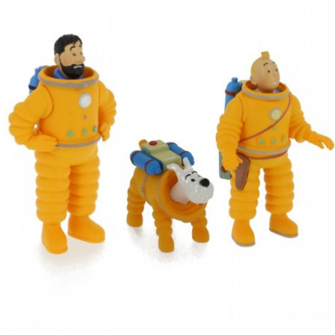 Adventures of Tintin In Lunar Suit 3-Inch Figures Set by Moulinsart