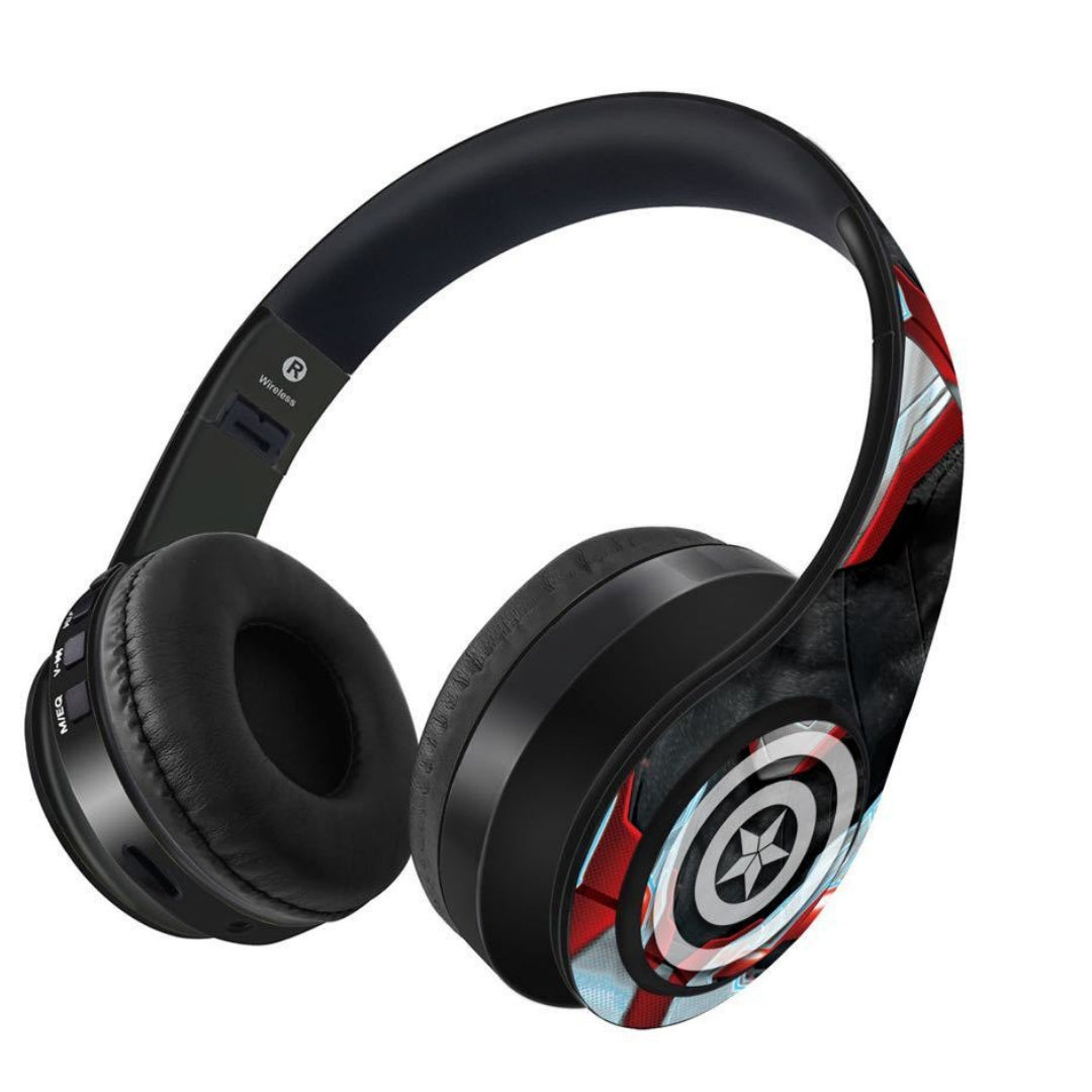 Avengers Endgame : In Suit Captain America Wireless Headphones by Macmerise