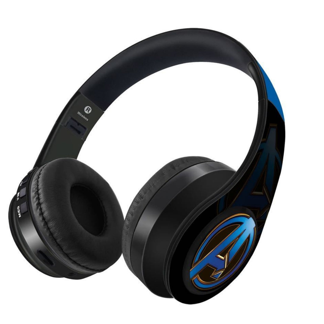 Avengers Endgame : Avengers Blue Logo Wireless Headphones by Macmerise