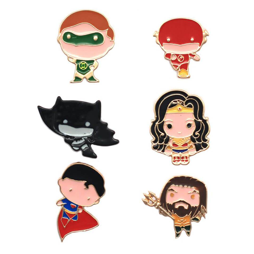 Justice League Charatcer Pin Set by EFG -EFG - India - www.superherotoystore.com