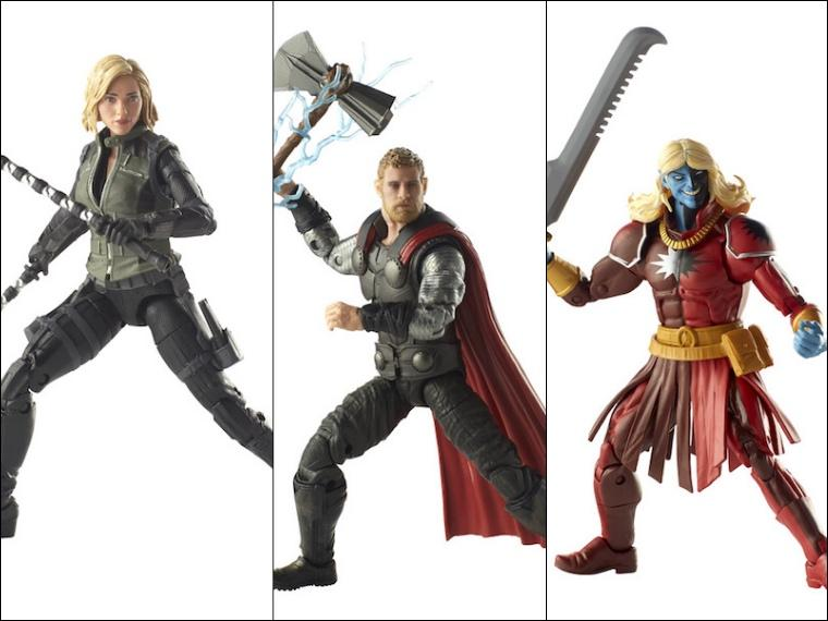 Avengers Marvel Legends Thor, Black Widow, Malekith 3-Pack by Hasbro