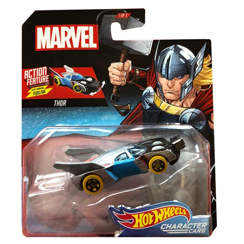 Marvel Character Car Thor 1:64 Scale Die-Cast Car by Hot Wheels