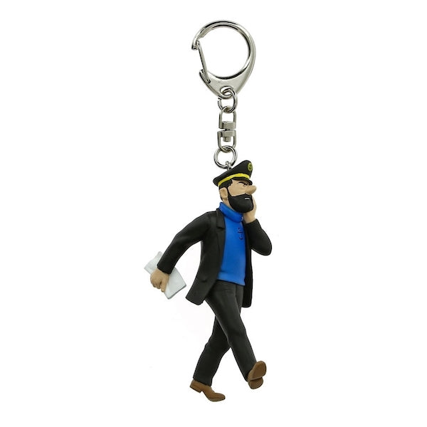 Captain Haddock Newspaper Keychain by Moulinsart