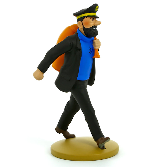 Adventures of Tintin - Haddcok on the way Figure by Moulinsart