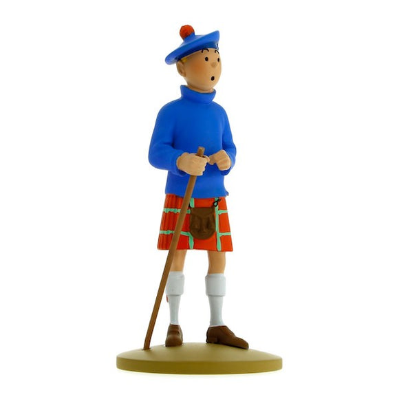 Tintin in Kilt Figure by Moulinsart